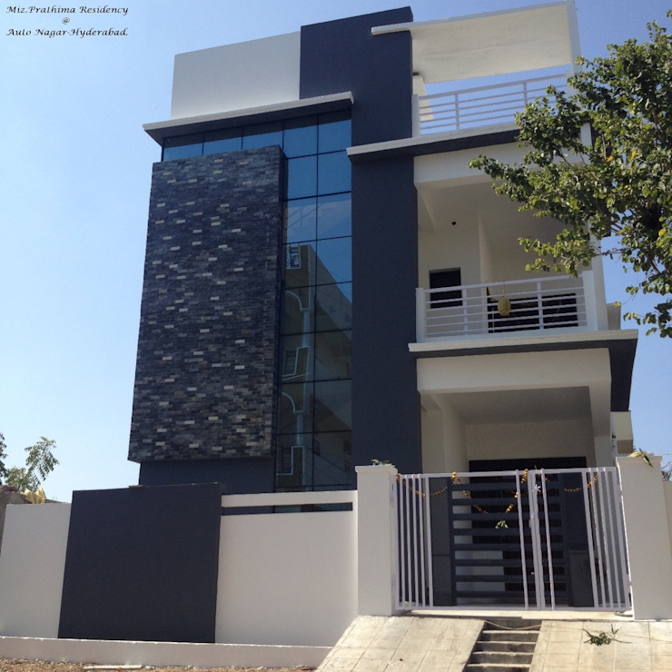 Prathima Residence at Auto Nagar by Walls Asia Architects and Engineers