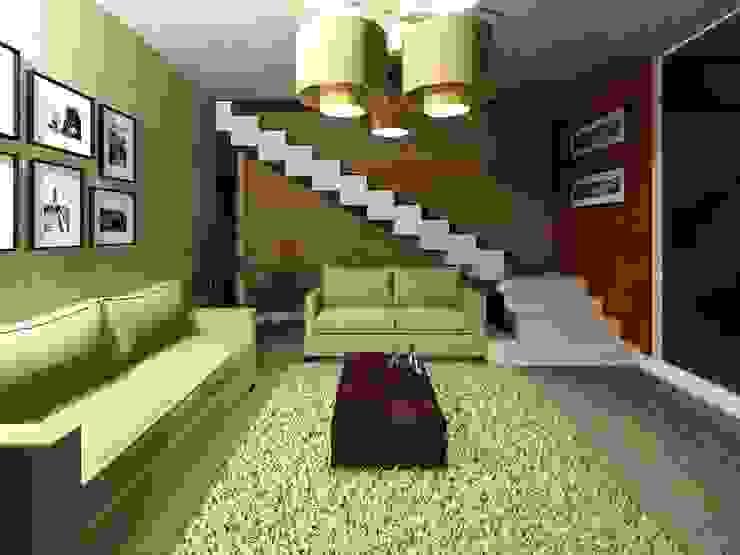 Sala Salones de estilo minimalista de HC Arquitecto Minimalista