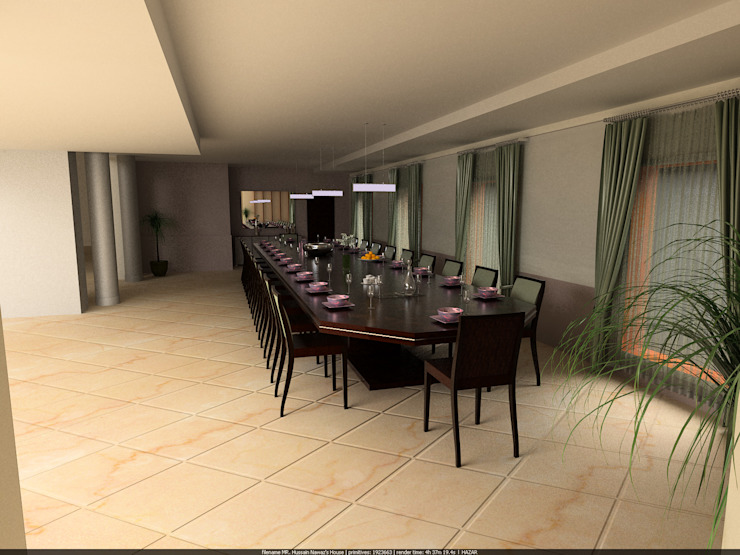 Madras Project Bedroom ,Dinning,Kitchen,Living Room by Walls Asia Architects and Engineers