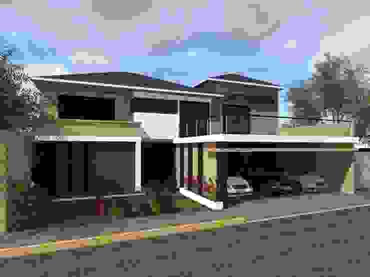 Fachada Casas de estilo minimalista de HC Arquitecto Minimalista