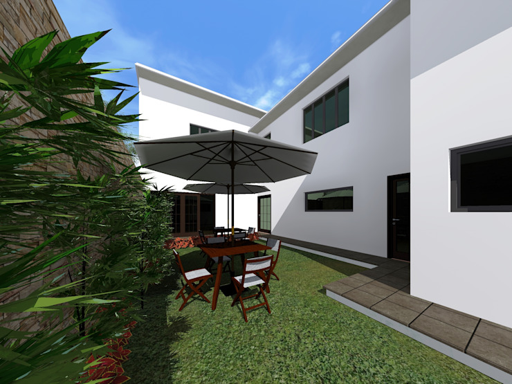 Jardin Jardines de estilo minimalista de HC Arquitecto Minimalista