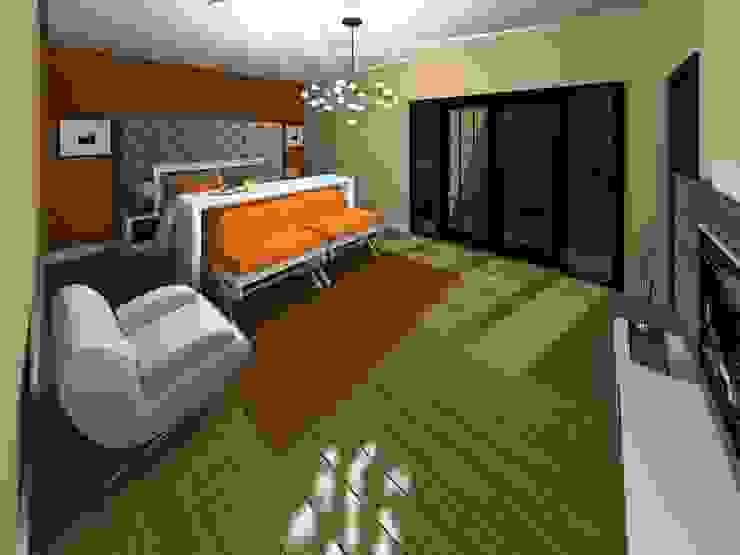Recamara Principal Dormitorios de estilo minimalista de HC Arquitecto Minimalista