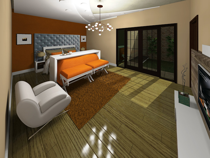 Спальня в стиле минимализм от HC Arquitecto Минимализм