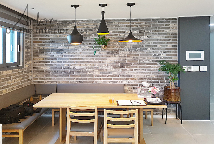 Industrial style dining room by 디자인 아버 Industrial