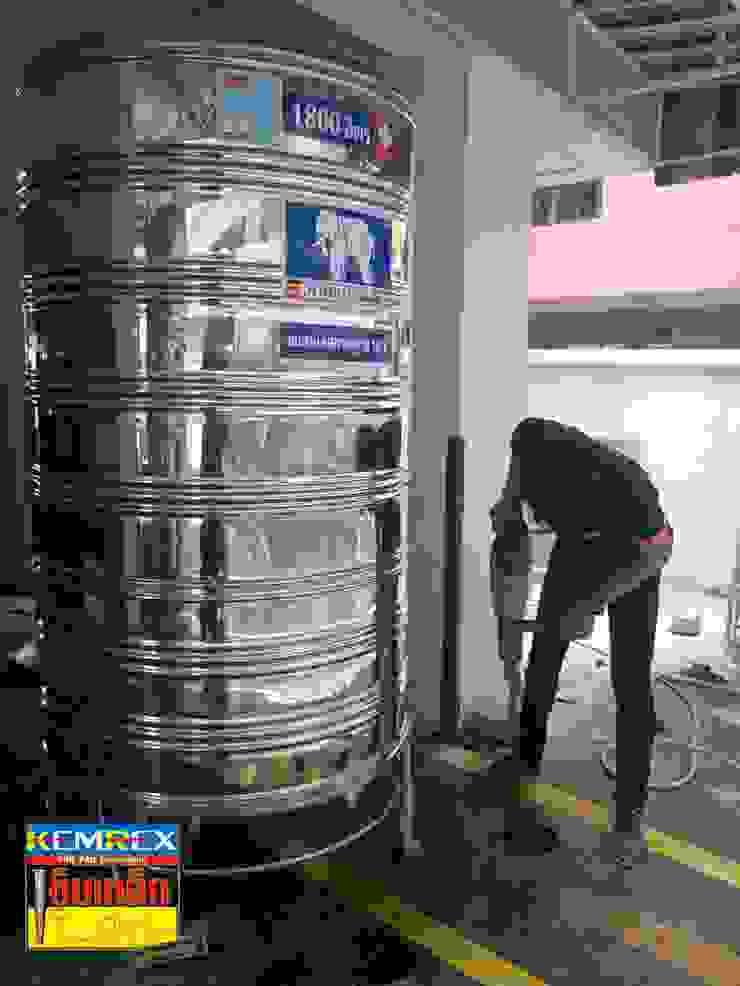 ฐานรากรองรับแทงค์น้ำขนาด1,800ลิตร คุณอัญวุฒิ โดย บริษัทเข็มเหล็ก จำกัด