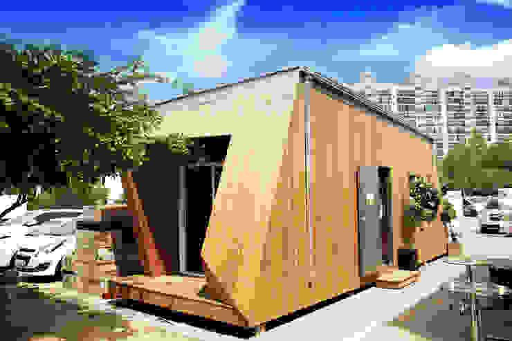 8평형 프리패브주택 외관(2) 모던스타일 주택 by 공간제작소(주) 모던