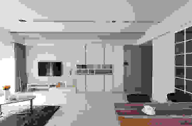 Livings de estilo moderno de 築一國際室內裝修有限公司 Moderno