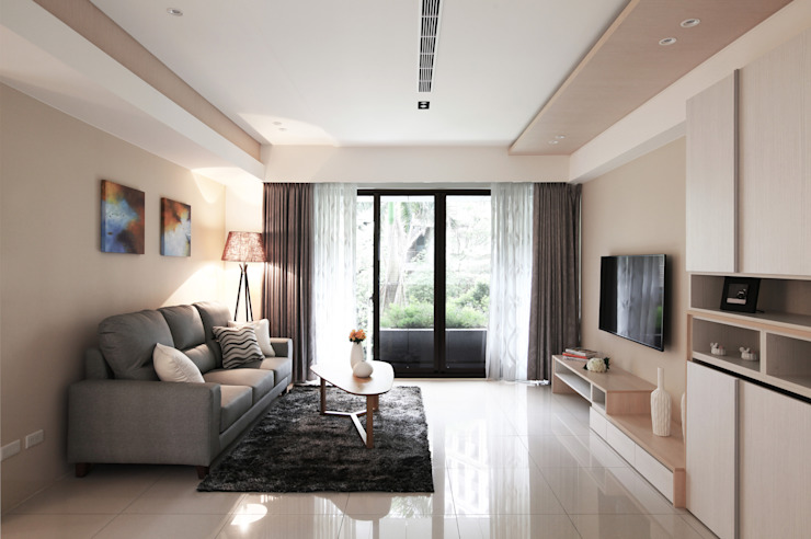Salas de estilo moderno de 築一國際室內裝修有限公司 Moderno