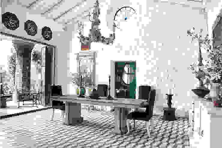 iç mekan tasarımları Rustik Yemek Odası BYAZ İnşaat Mimarlık ve Tasarım Rustik Mermer
