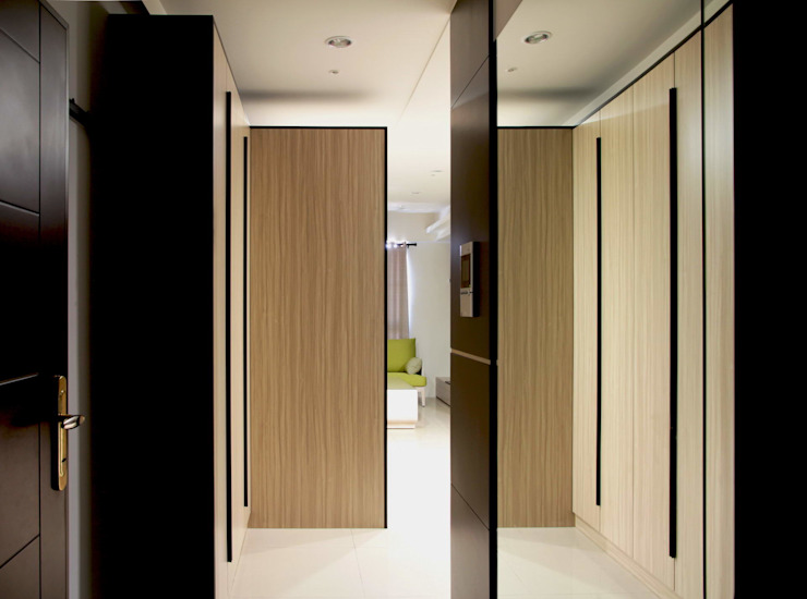 Vestige 現代風玄關、走廊與階梯 根據 築一國際室內裝修有限公司 現代風
