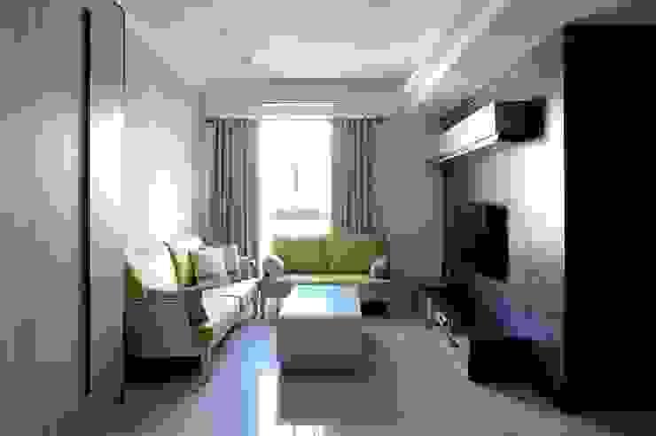 Vestige 现代客厅設計點子、靈感 & 圖片 根據 築一國際室內裝修有限公司 現代風