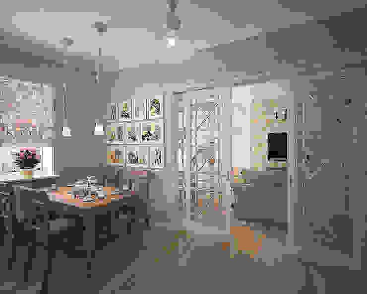 Московский Прованс Кухня в стиле кантри от студия Виталии Романовской Кантри