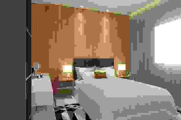 โดย Bruna Rodrigues Designer de Interiores โมเดิร์น ไม้ Wood effect