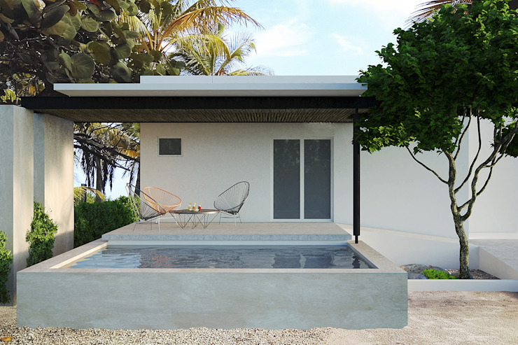 LUUM Arquitectos Modern Pool