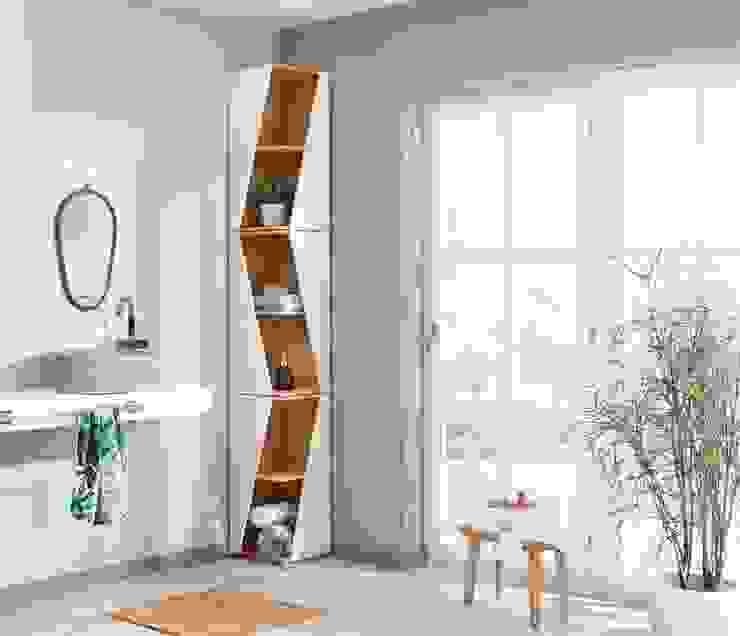Design Eckregal für Bad, WC und andere kleine Räume: modern  von homify,Modern