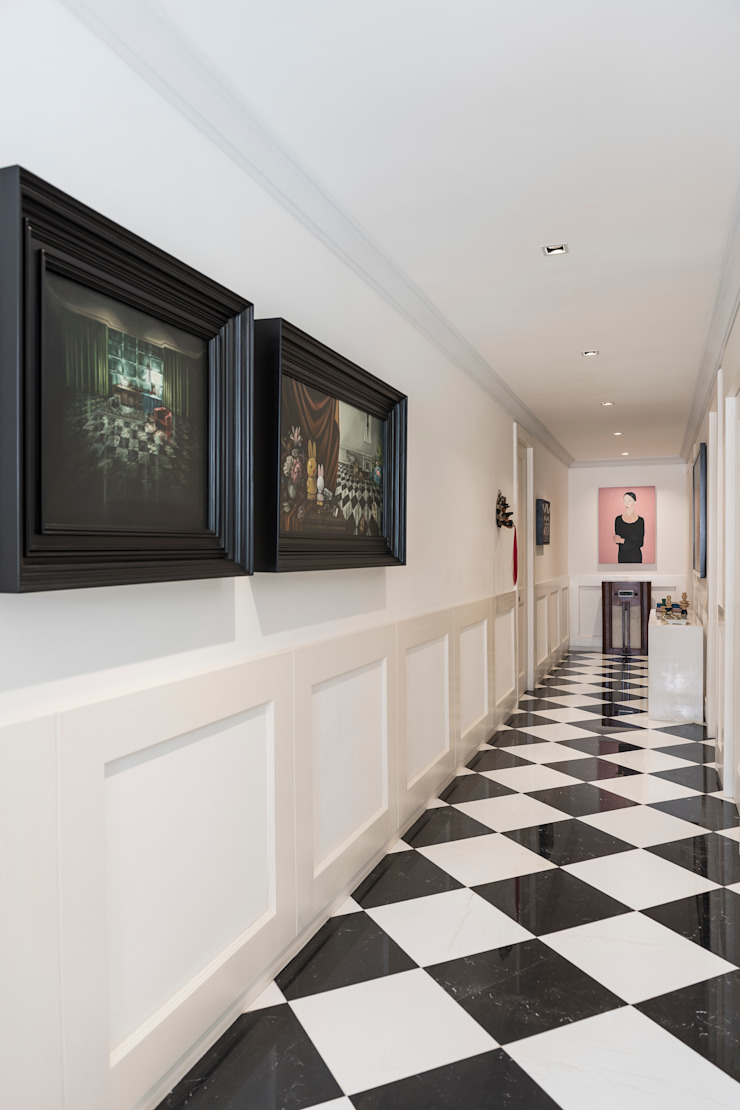 MAAD arquitectura y diseño 經典風格的走廊,走廊和樓梯