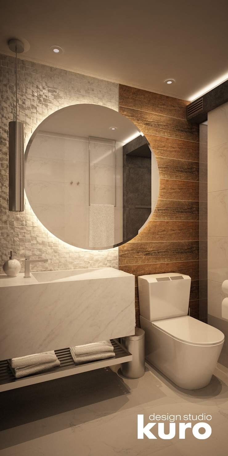 Baño Residencia La Molina Baños modernos de Kuro Design Studio Moderno