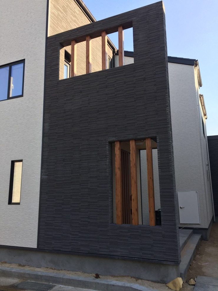 내진설계 구조와 레드파인 집성철물 공법으로 외부 마감재는 KMEW 와 이낙스타일 호소와리보더 모델을 사용하였습니다 by 창조하우징