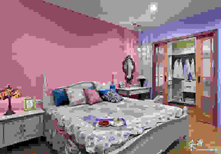 西班牙鄉村風格-透天別墅 Color-Lotus Design 臥室 實木 Pink