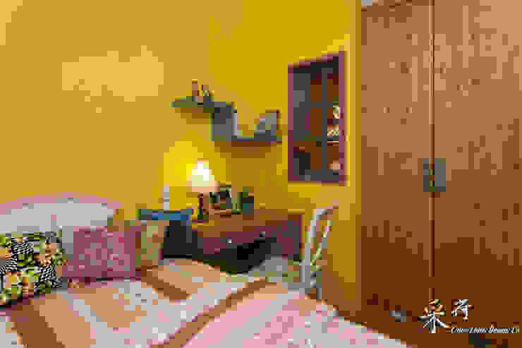 Color-Lotus Design ห้องนอนWardrobes & closets ไม้จริง Yellow