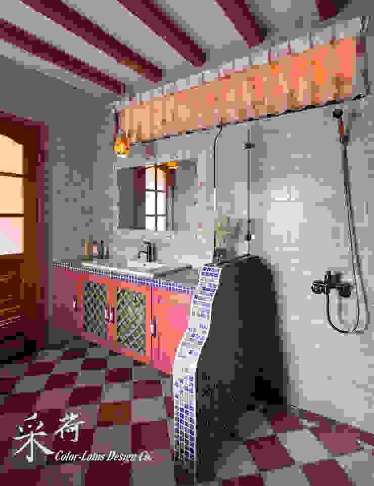 西班牙鄉村風格-透天別墅 根據 采荷設計(Color-Lotus Design) 鄉村風 磁磚