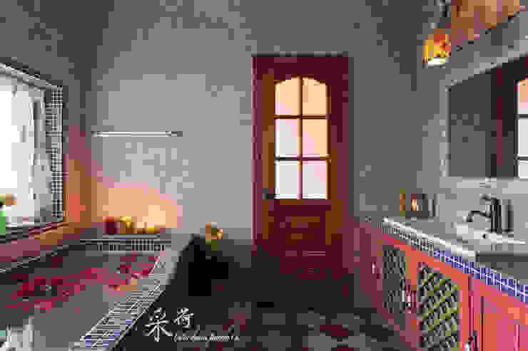 西班牙鄉村風格-透天別墅 根據 采荷設計(Color-Lotus Design) 鄉村風