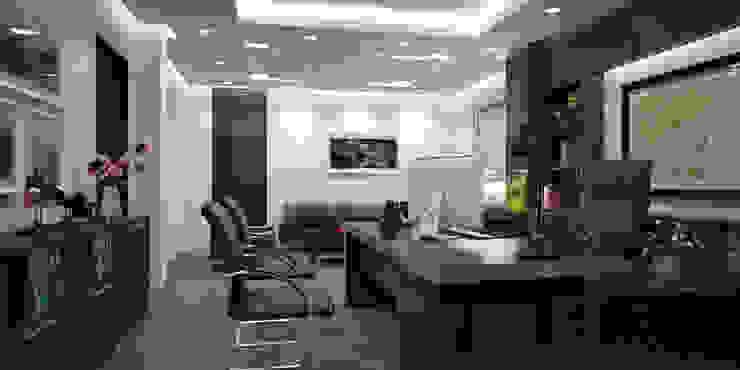 Thiết kế thi công nội thất văn phòng Lạc Hồng – Hưng Yên: hiện đại  by Nội Thất TNC, Hiện đại
