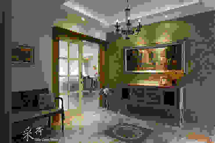 華麗復古,法式鄉村 經典風格的走廊,走廊和樓梯 根據 采荷設計(Color-Lotus Design) 古典風 磁磚