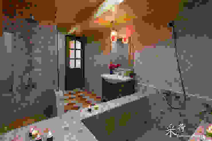 華麗復古,法式鄉村 根據 采荷設計(Color-Lotus Design) 鄉村風 磁磚
