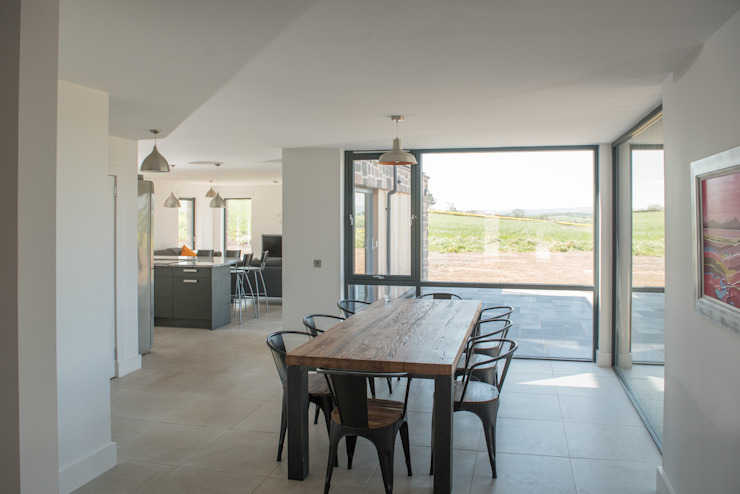 Drumpark Plot 1:  Dining room by Woodside Parker Kirk Architects,