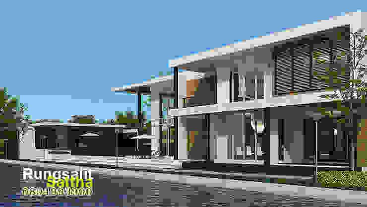 แบบบ้านโมเดิร์นหรู Modern Luxury: ทันสมัย  โดย R.C. Interior and Architect, โมเดิร์น
