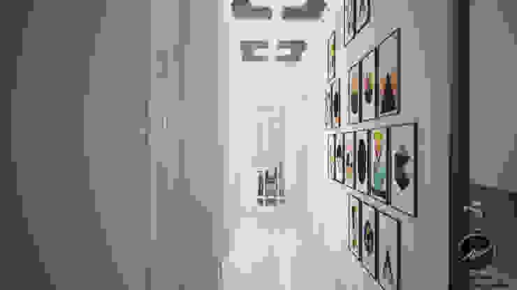Vizyon İnşaat Örnek Daire Modern Koridor, Hol & Merdivenler İz Tasarım ve İçmimarlık Modern