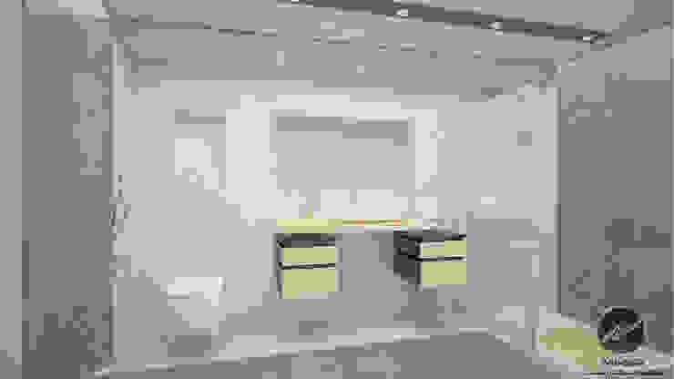 V Banyo Tasarımı İz Tasarım ve İçmimarlık Modern Banyo