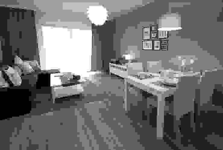 Scandinavian style dining room by IDAFO projektowanie wnętrz i wykończenie Scandinavian