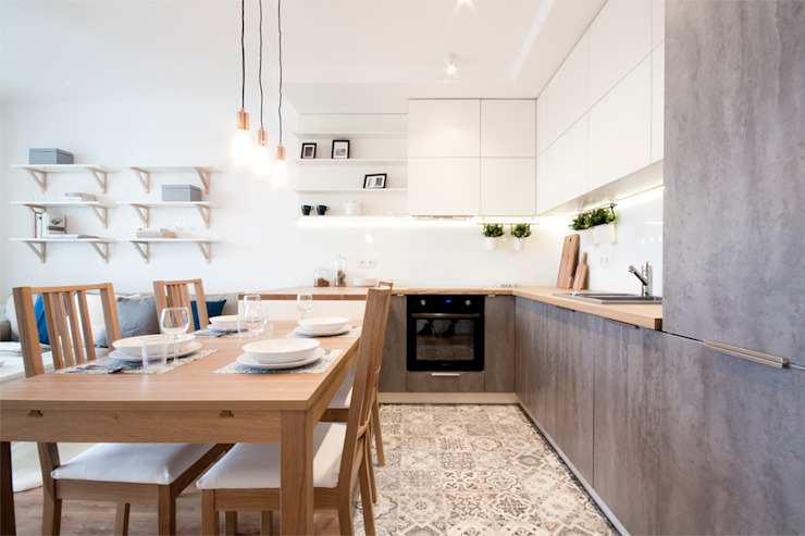 Cocinas escandinavas de IDAFO projektowanie wnętrz i wykończenie Escandinavo