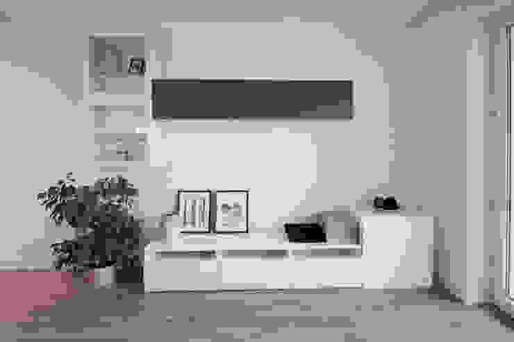 Salones escandinavos de IDAFO projektowanie wnętrz i wykończenie Escandinavo
