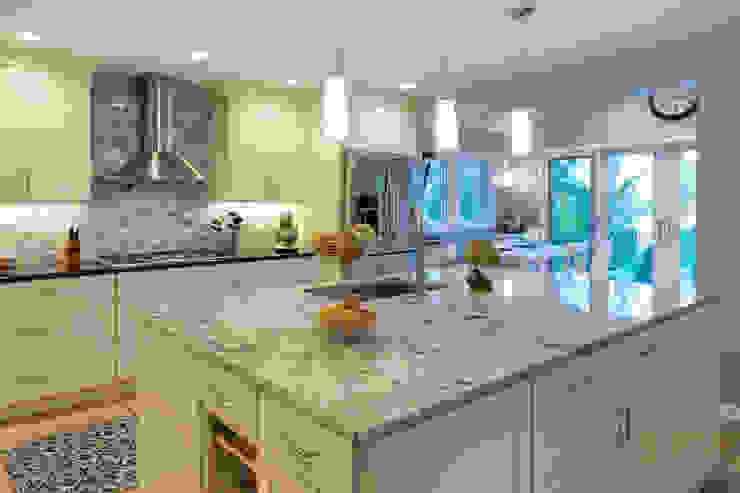 White Shaker Kitchen with Island Main Line Kitchen Design Kitchen Granite White