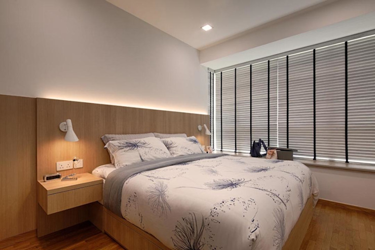 Minton Condo Interior Design Singapore Modern style bedroom by Posh Home Modern