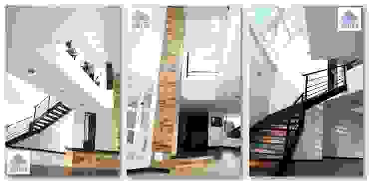 Couloir, entrée, escaliers modernes par GRUPO CORTAZAR Moderne