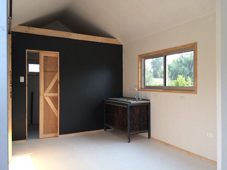 Vivienda modular 3x12 Casas de estilo industrial de Angular Arquitectos Industrial