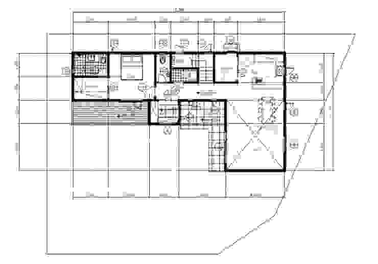 꽃과 나무, 중목구조의 미를 살린 모던한 주택 – 중목구조 전문브랜드 창조하우징 by 창조하우징