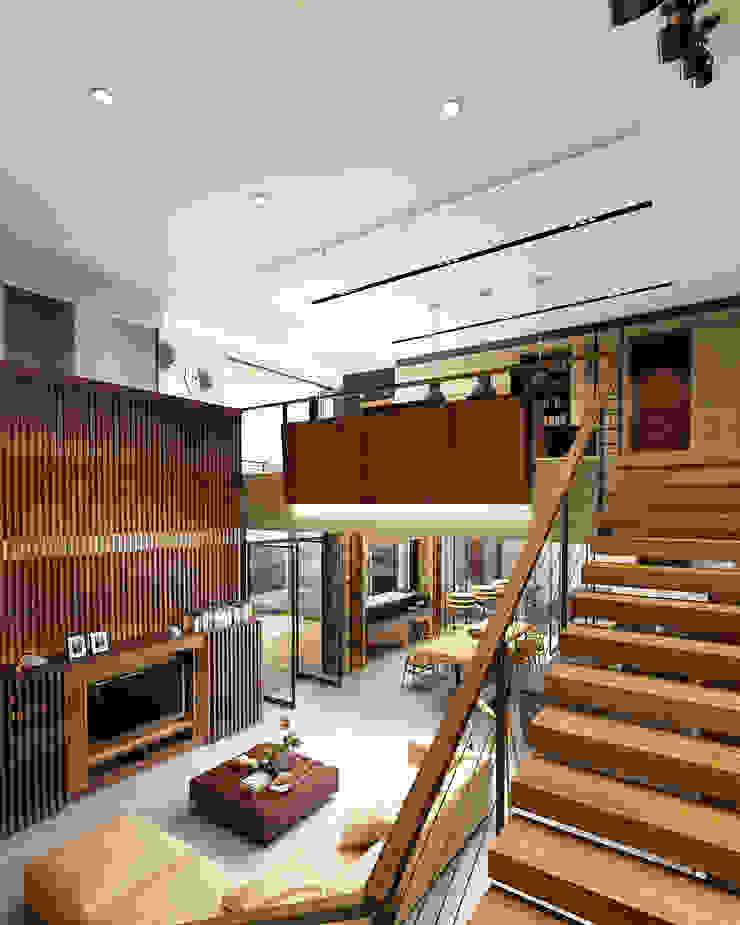 Stairs Juxta Interior Koridor & Tangga Tropis