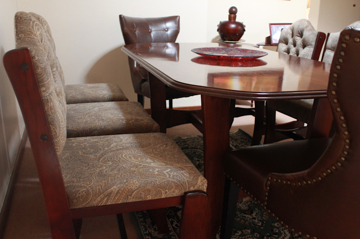 Reupholstery of Dining Chairs: country  by Buhle Bendalo Designs, Country