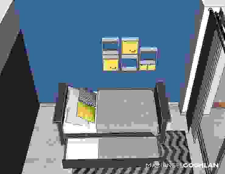 Proyecto Palmas Moderne Schlafzimmer von MARIANGEL COGHLAN Modern