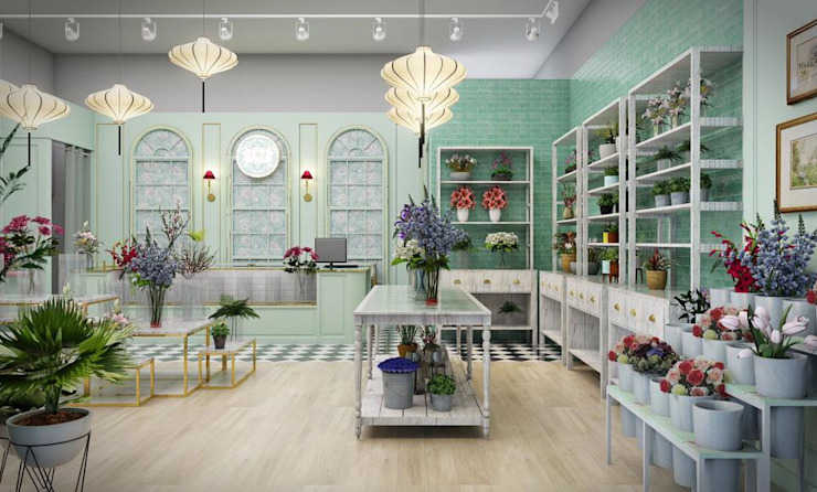 Our ongoing project. A flower shop in Shanghai โดย The guidelines design studio