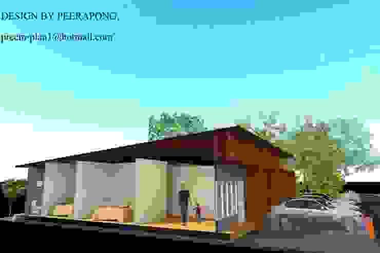 อาคารพณิชย์ 1 ชั้น รับเขียนแบบบ้าน ออกแบบบ้าน โดย รับเขียนแบบบ้าน&ออกแบบบ้าน โมเดิร์น