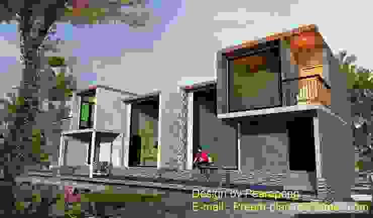 บ้านปูนขัดมัน โดย รับเขียนแบบบ้าน&ออกแบบบ้าน โมเดิร์น