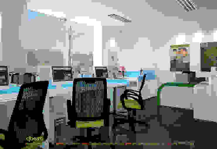 Phòng làm việc: hiện đại  by Công ty TNHH Thiết kế và Ứng dụng QBEST, Hiện đại