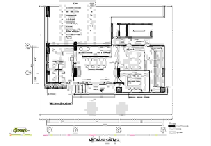 Mặt bằng: hiện đại  by Công ty TNHH Thiết kế và Ứng dụng QBEST, Hiện đại