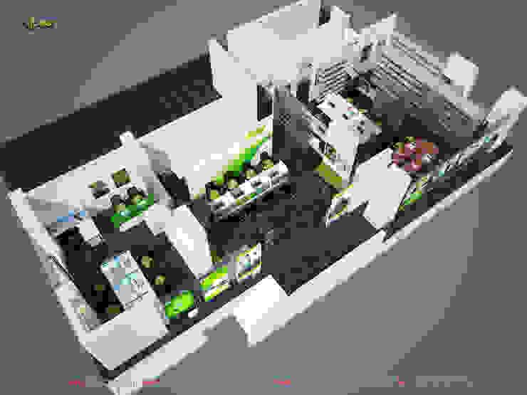 Phối cảnh tổng thể 2: hiện đại  by Công ty TNHH Thiết kế và Ứng dụng QBEST, Hiện đại